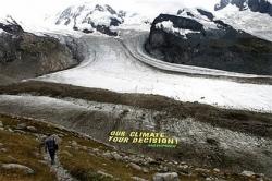GreenPeace instala maior cartaz de sempre no glaciar Suiço